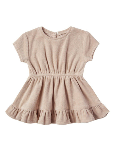 Terry Dress in Terry Cloth in Petal - WildLittleFawns