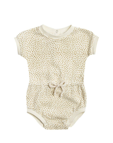 Retro Romper Terry Cloth in Ivory - WildLittleFawns
