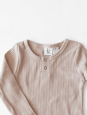 Willow Long Sleeve Cotton Top in Fawn - WildLittleFawns