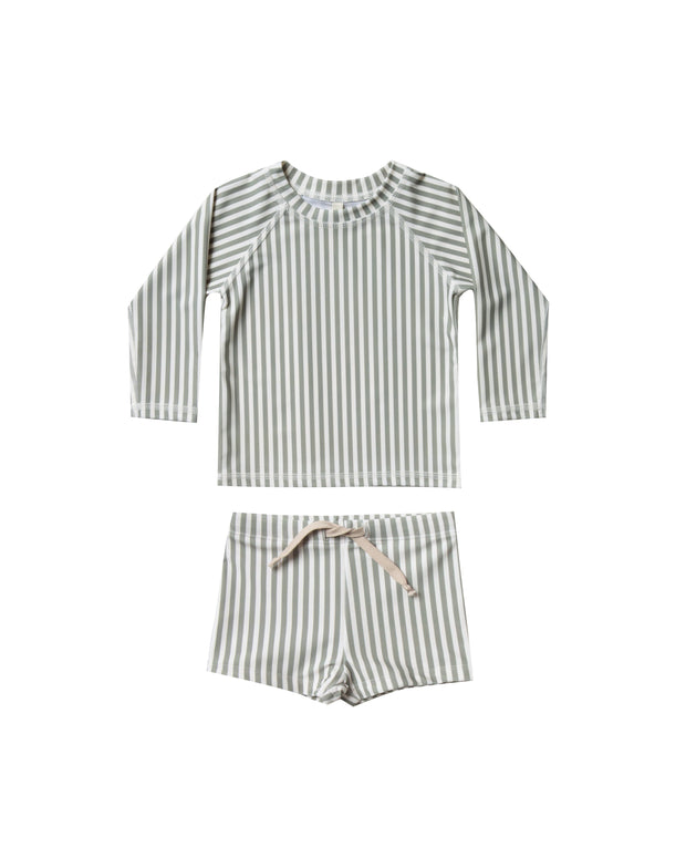 Striped Rashguard Swim Set - WildLittleFawns