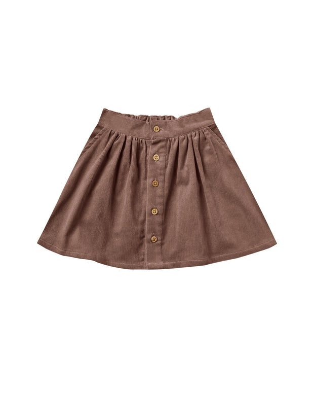 Rylee & Cru Button Front Mini Skirt
