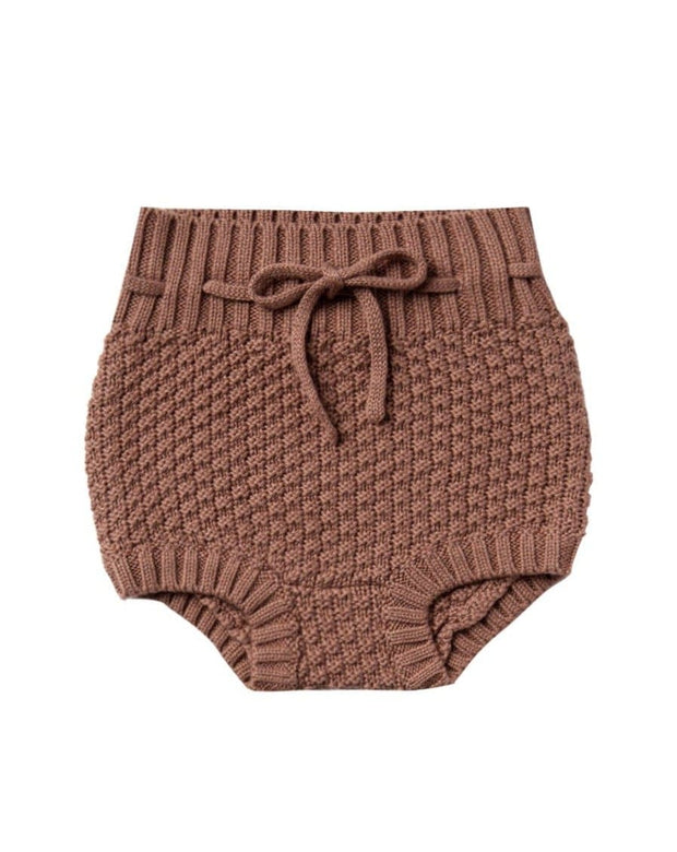 Quincy Mae Knit Tie Bloomer Clay