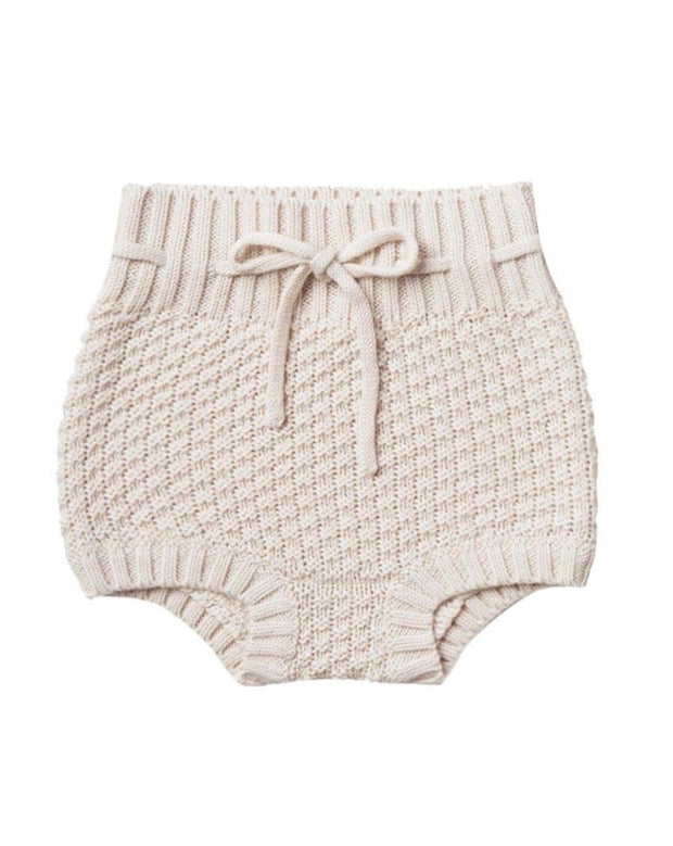 Quincy Mae Knit Tie Bloomer Pebble