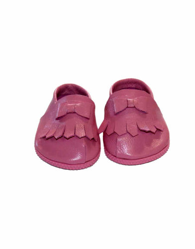 Pink leather moccasins - WildLittleFawns