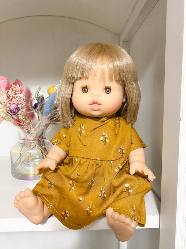 Minikane Dress in Autumn Floral - WildLittleFawns
