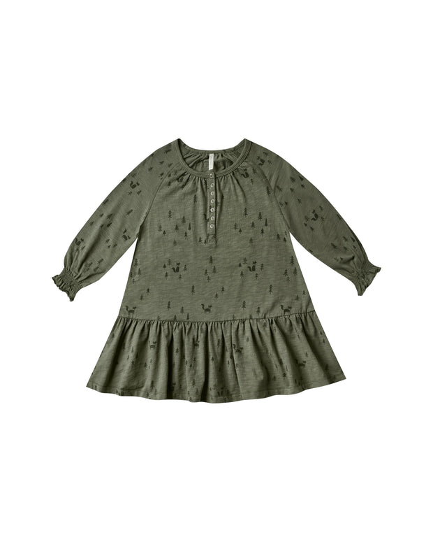 Woods Swing Dress - Forest - WildLittleFawns