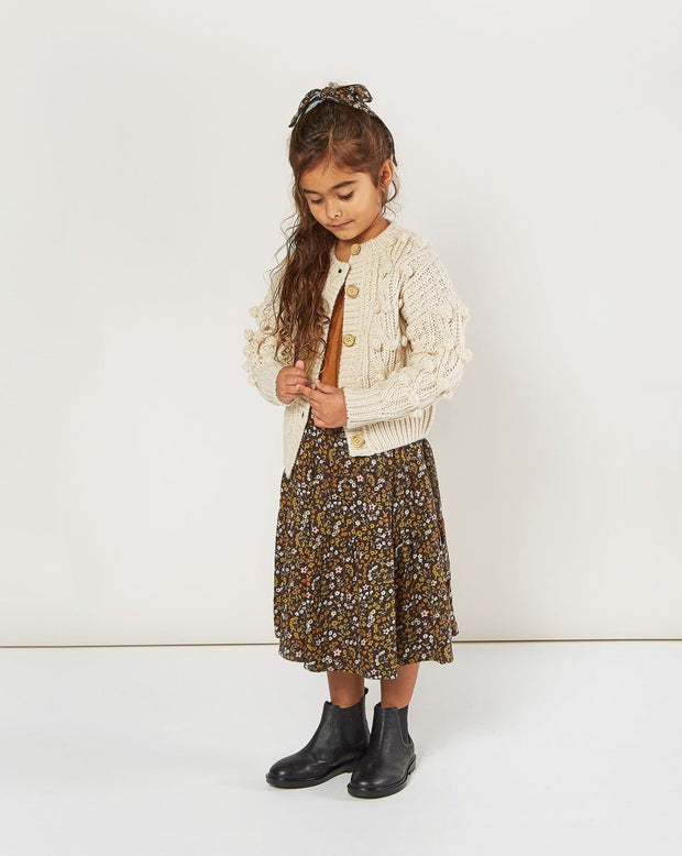 Bobble Cardigan - Natural Rylee & Cru