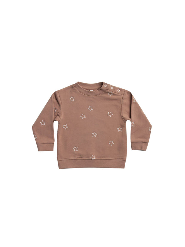 Fleece Basic Sweatshirt - Clay Quincy Mae