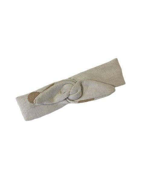 Minikane Cotton Headband - Beige/Gold - WildLittleFawns