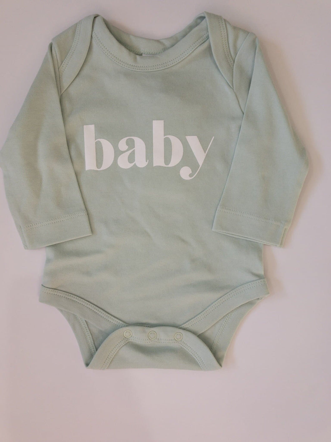 Baby Long Sleeve Onesie in Mint - WildLittleFawns