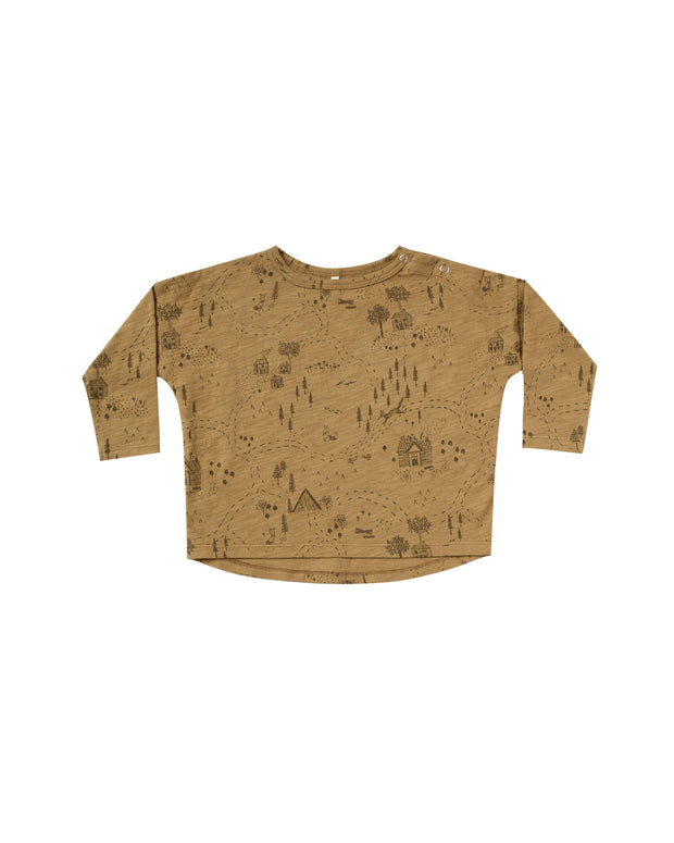 Into The Woods Longsleeve Tee - Goldenrod - WildLittleFawns