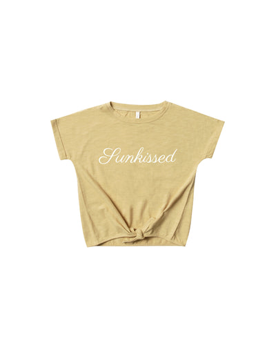 Sunkissed Knotted Tee - WildLittleFawns
