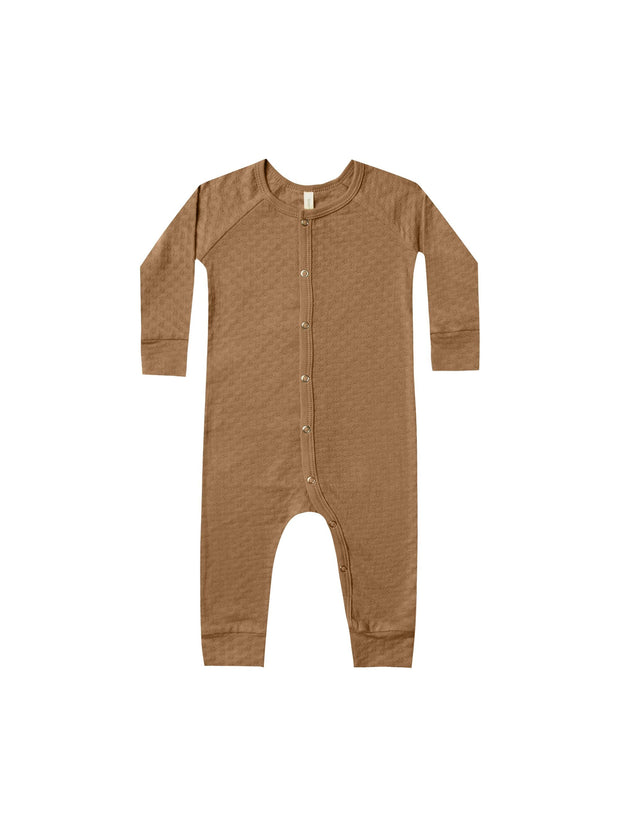 Quincy Mae Pointelle Long John - Walnut