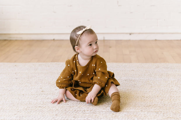 Quincy Mae Little Knot Headband - Pebble