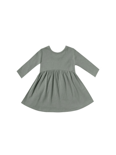 Ribbed Longsleeve Dress - Eucalyptus - WildLittleFawns