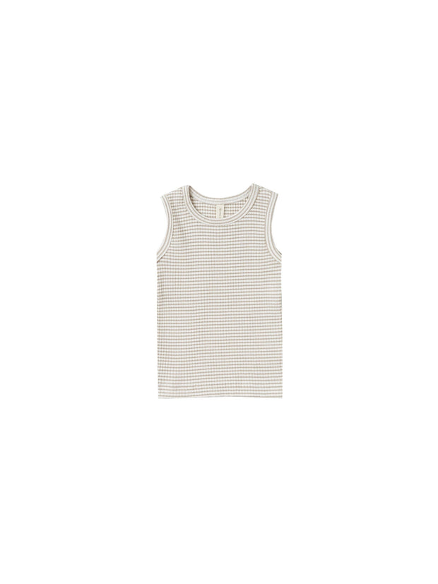 Ribbed Tank in Fog Stripe - WildLittleFawns