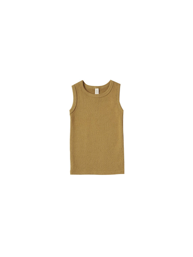 Ribbed Tank in Ocre - WildLittleFawns