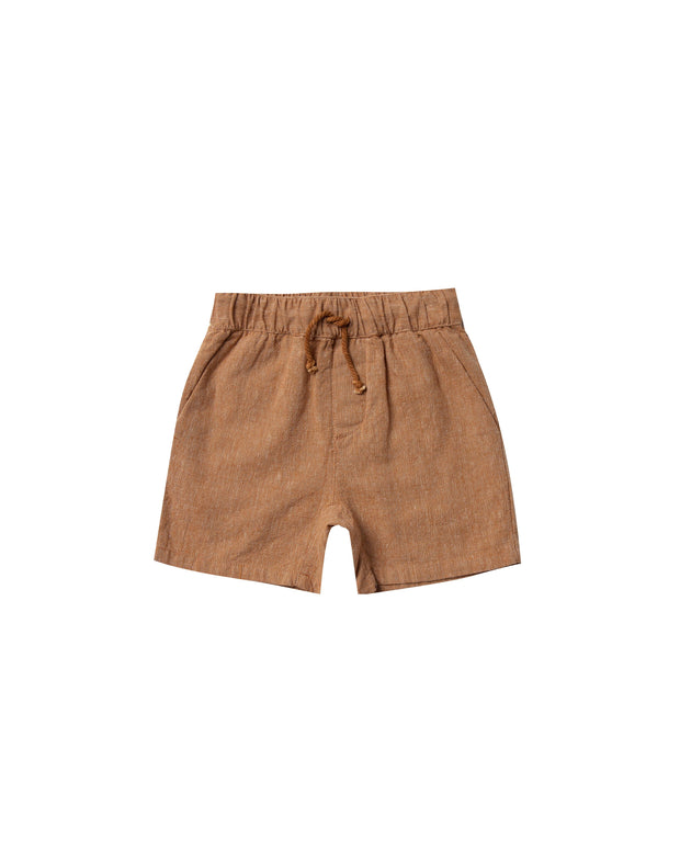 Drawstring Short in Bronze Rylee & Cru