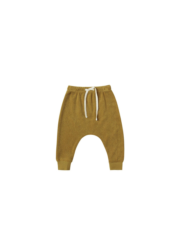Terry Cloth Sweatpants Terry in Ocre - WildLittleFawns