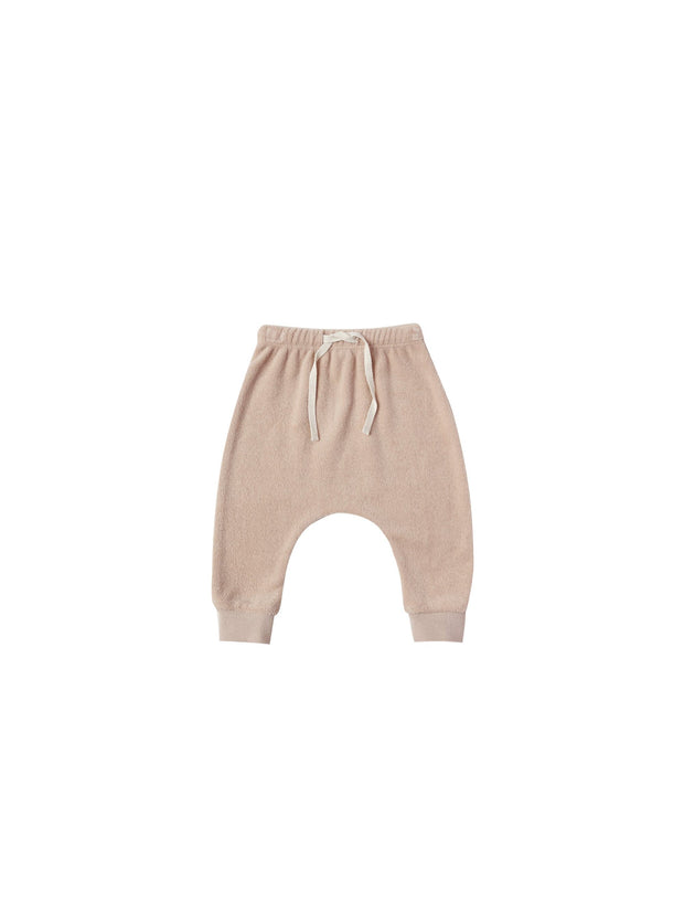 Terry Cloth Sweatpants Terry in Petal - WildLittleFawns