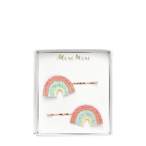 Glitter Rainbow Hair Slides - WildLittleFawns