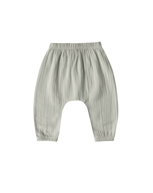 Quincy Mae Woven Harem Pant - Sage