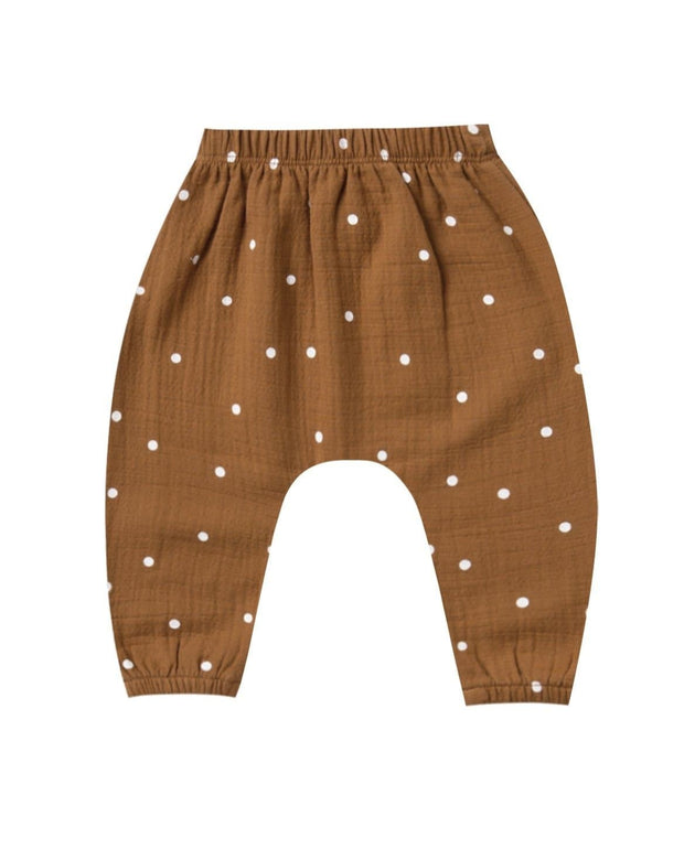 Quincy Mae Woven Harem Pant - Walnut