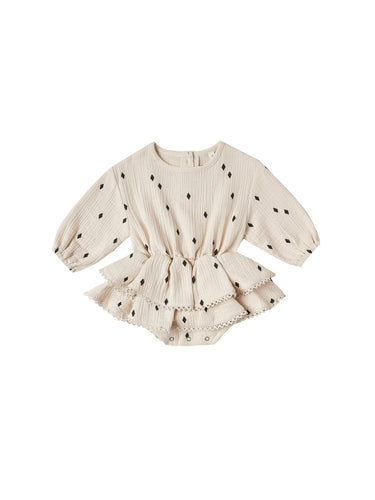 Rosie Romper in Natural - WildLittleFawns