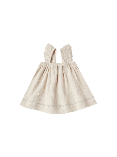 Ruffled Tube Dress in Natural - WildLittleFawns