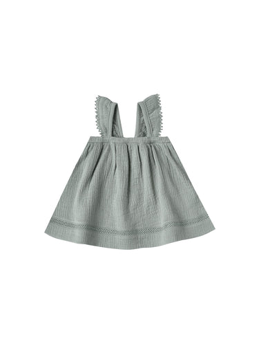 Ruffled Tube Dress in Ocean - WildLittleFawns