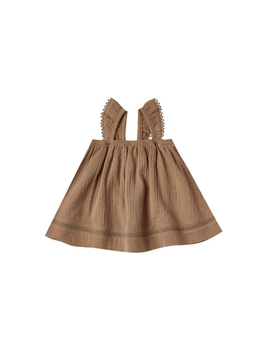 Ruffled Tube Dress in Rust - WildLittleFawns