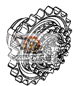 Final drive 333/K1153 JCB JS360 - AFTERMARKET
