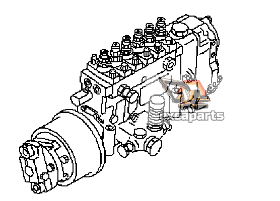 Fuel injection pump 6152-72-1250 Komatsu PC400-6 - AFTERMARKET