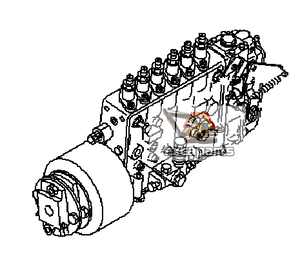 Fuel injection pump 6156-71-1210 Komatsu PC400-7 - AFTERMARKET