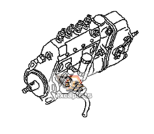 Fuel injection pump 6205-71-1330 Komatsu PW130-6K - AFTERMARKET
