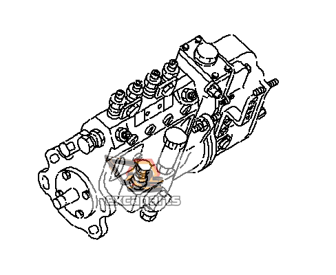 Fuel injection pump 6205-71-1350 Komatsu PC78MR-6 - AFTERMARKET