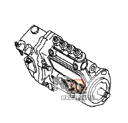 Fuel injection pump YM729613-51380 Komatsu PC40R-8 - AFTERMARKET