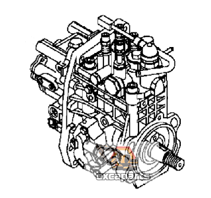 Fuel injection pump YM729938-51310 Komatsu PC80MR-3 - AFTERMARKET