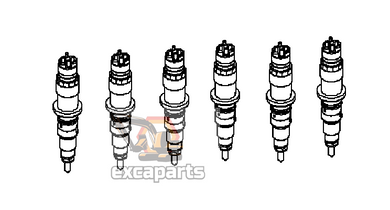 Fuel injector 6212-11-3100 Komatsu PC650LC-5 - AFTERMARKET