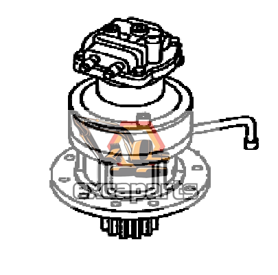 Swing gearbox motor assembly KBC0087 JCB JS240 - AFTERMARKET