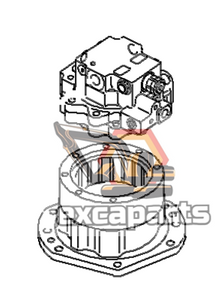 Swing machinery 20S-26-00202 Komatsu PC35R-8 - AFTERMARKET