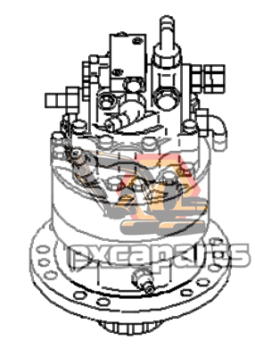 Swing gearbox motor machinery 21W-26-00100 Komatsu PC78MR-6 - Excaparts