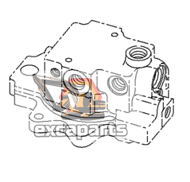 Swing motor 708-7R-00421 Komatsu PC45MR-3 - AFTERMARKET