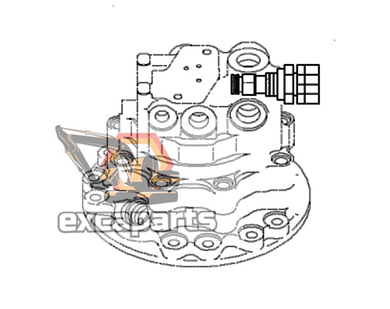 Swing motor 708-7S-00270 Komatsu PC88MR-8 - AFTERMARKET