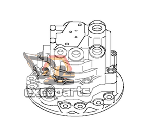 Swing motor 708-7S-01212 Komatsu PC80MR-3 - AFTERMARKET