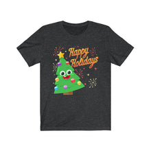Load image into Gallery viewer, Unisex Happy Holidays DittyMoji Jersey Short Sleeve Tee