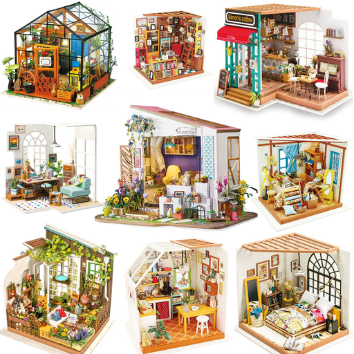Miniature Dollhouse 3D Model Building Kits