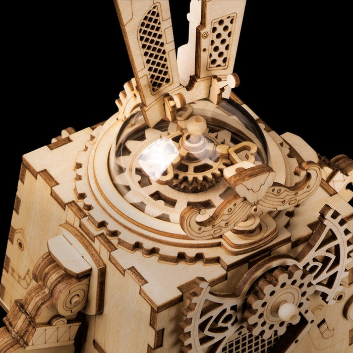 Steampunk Rabbit Music Box Puzzle - cloverbliss.com