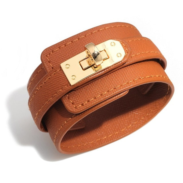 Trendy Leather Cuff Bracelets
