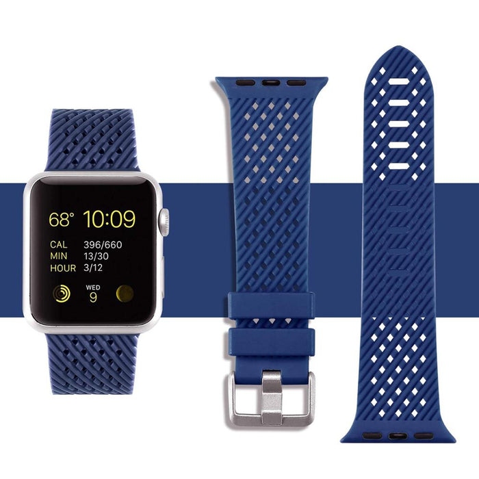Rhombus Texture Silicone Sport Strap for Apple Watch Series, 5, 4, 3, 2, 1